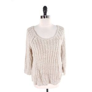 Knitted & Knotted Textural Knit Sequin Sweater